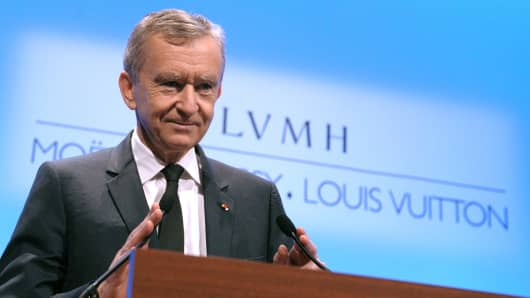 Bernard Arnault, CEO of the luxury goods maker LVMH.