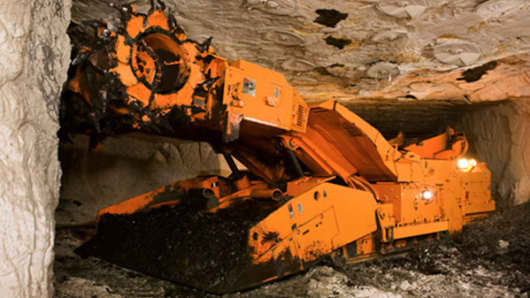 Joy Global mining machinery.