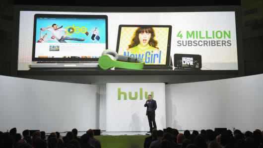 Hulu acting CEO Andy Forssell attends the Hulu NY Upfront on April 30, 2013.