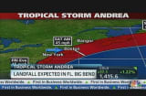 Tropical Storm Andrea On the Move