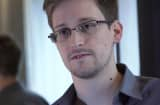 Edward Snowden speaks during an interview in Hong Kong.