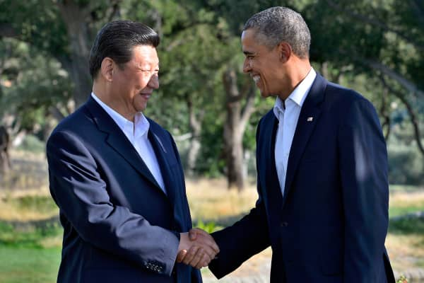 President Barack Obama and President Xi Jinping meet in Rancho Mirage, Calif.
