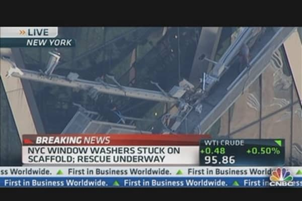 NYC Window Washers Safe at Hearst Building