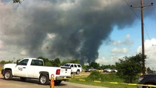 An explosion rocked a Louisiana chemical plant on June 13, 2013.
