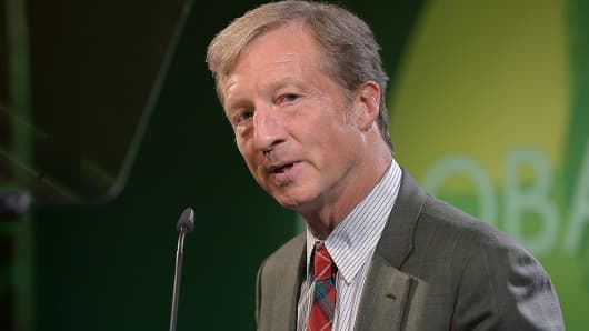 Tom Steyer speaks at Global Green USA's Millennium Awards at Fairmont Miramar Hotel on June 8, 2013 in Santa Monica, California benefiting the places, the people and the planet in need.