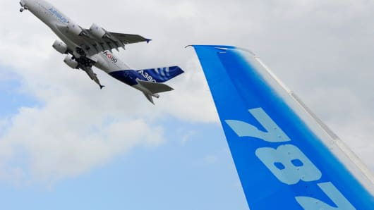 Boeing and Airbus square off at the 2013 Paris Air Show.