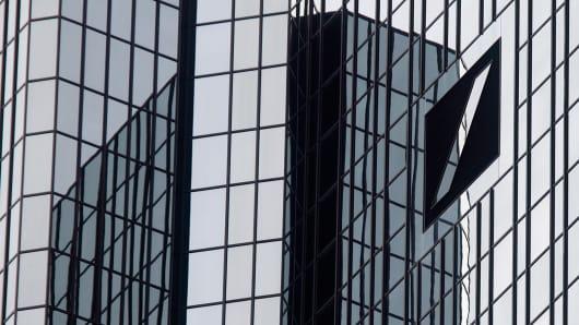 Deutsche Bank AG's headquarters in Frankfurt, Germany.