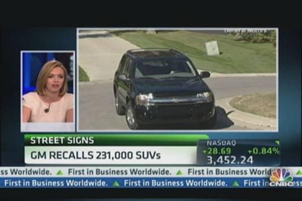 GM Recalls 231,000 SUVs