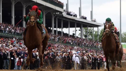 Animal Kingdom at the 137th Kentucky Derby at Churchill Downs on May 7, 2011.