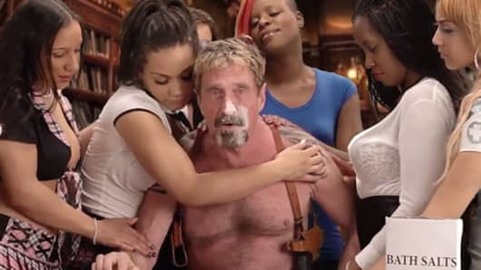 In his own YouTube video, John McAfee (with helpers) explains