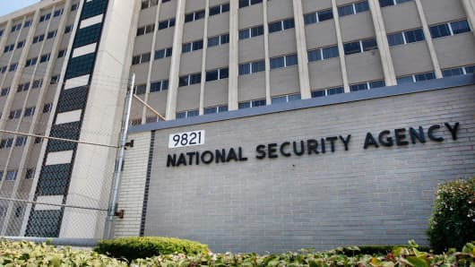 National Security Agency building in Fort Meade, Md.