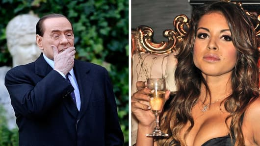 Silvio Berlusconi and Ruby El Mahroug
