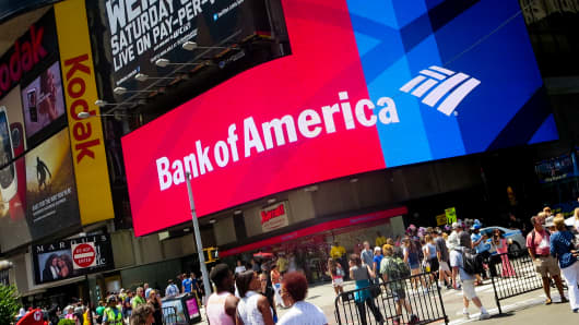 Bank of America in Times Square, New York.