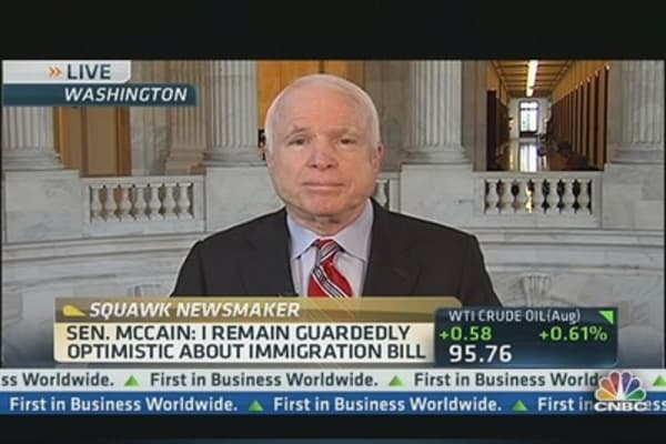 Sen. McCain Guardedly Optimistic About Immigration Bill