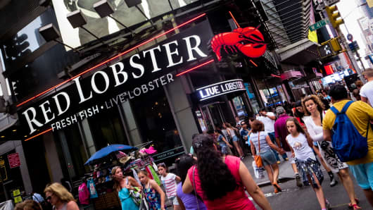 Red Lobster in Times Square, New York.