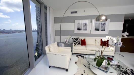 A model apartment unit in Miami.