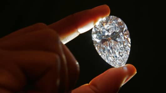 A diamond cut from Gem Diamond's 'Lesotho Promise,' found at the Lesotho mine in 2006