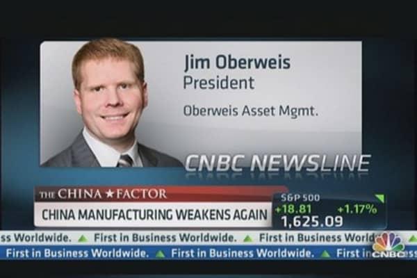 China Manufacturing Weakens Again