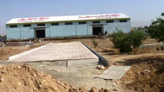 An Ace Hardware store under construction in Afghanistan.