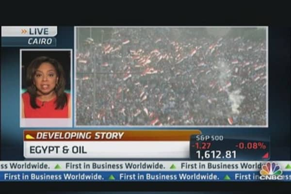Oil Prices Climb Amid Egypt Crisis