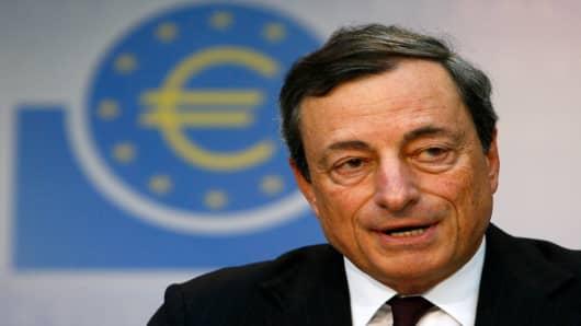 European Central Bank President Mario Dragh