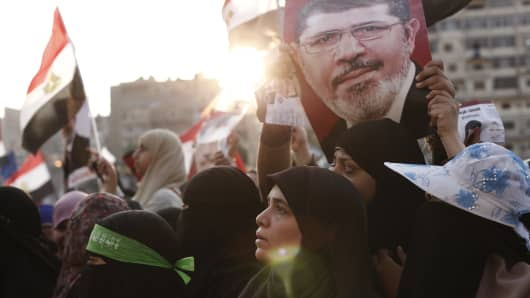 Supporters of Mohammed Morsi gather in Cairo
