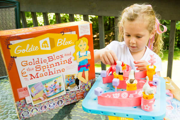 GoldieBlox toys expose young girls to the world of engineering.