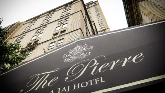 The Pierre Hotel in New York City.