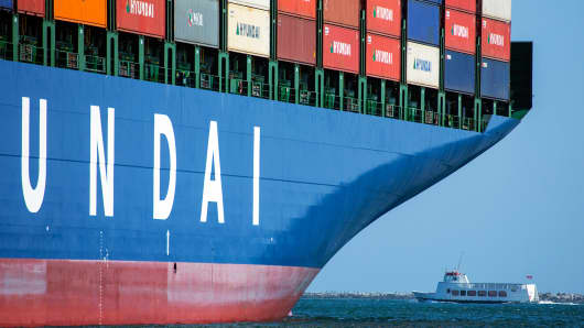 Container ship international trade