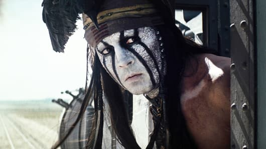 Johnny Depp as Tonto in Disney's Lone Ranger