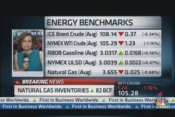 Natural Gas Inventories Up 82 BCF