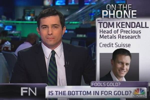 Gold Has Not Bottomed: Credit Suisse's Kendall