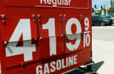 Gas prices displayed in Los Angeles on July 16.