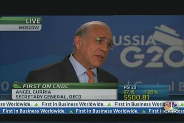 OECD's Gurria: G20 united on tax avoidance