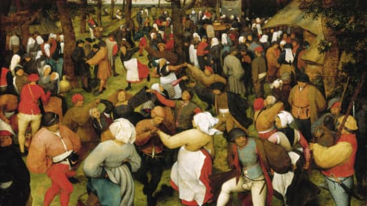 Detail of The Wedding Dance by Pieter Bruegel the Elder