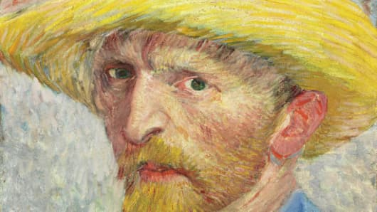 Detail from Van Gogh self portrait