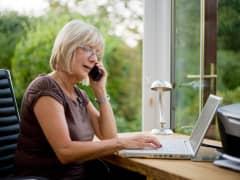 Boomer woman working