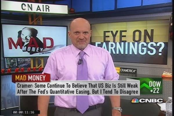 Cramer eyes earnings