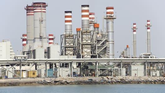 A desalination plant.