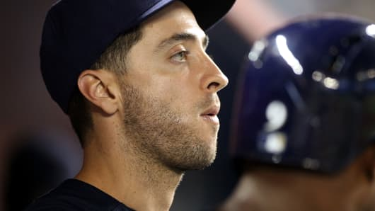 Milwaukee Brewer's Ryan Braun is suspended until next season following a positive test for elevated testosterone.