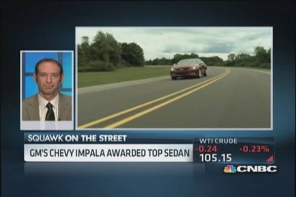 Chevy Impala top new sedan