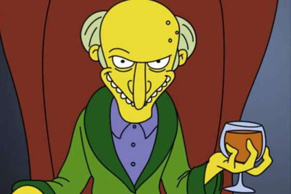 "Mr. Burns from ""The Simpsons."""