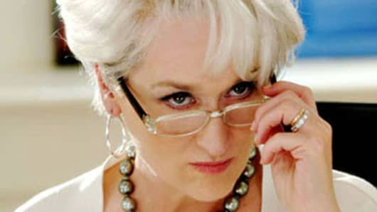 Meryl Streep as Miranda Priestly in The Devil Wears Prada.
