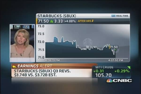 Starbucks Q3 earnings