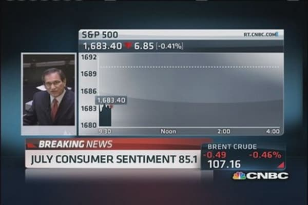 July consumer sentiment 85.1