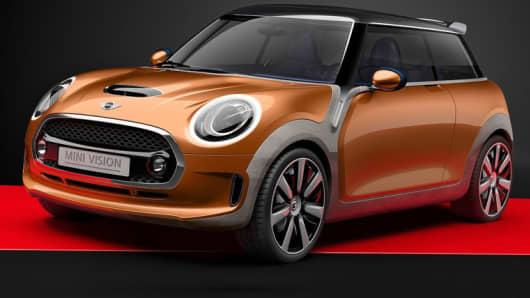 The Mini Vision concept car.