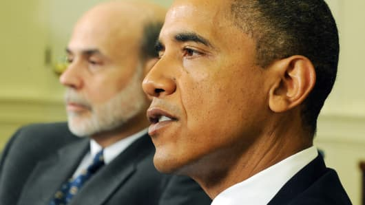 President Barack Obama and Federal Reserve Chairman Ben Bernanke