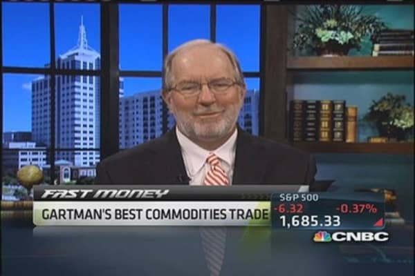 Buy gold, sell copper, Gartman