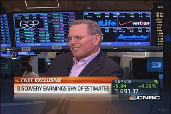 Discovery earnings shy of estimates