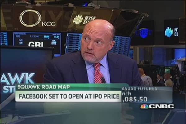 Cramer: Why Facebook is back at its IPO price